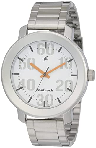 5. Fastrack Casual Analog White Dial Men's Watch -NK3121SM01