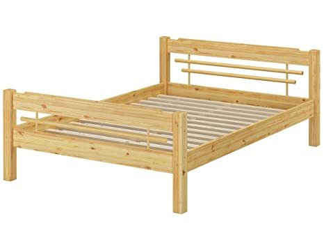 Erst-Holz Letto matrimoniale in stile giapponese 140x200 in Pino ...