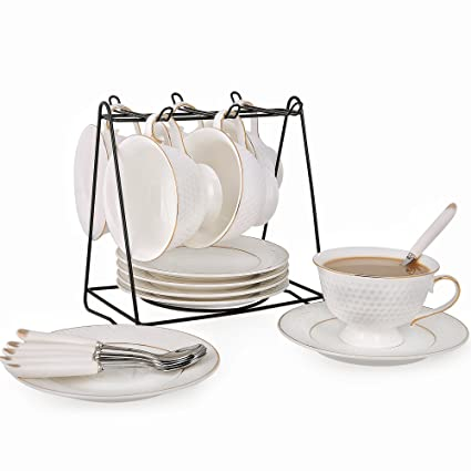 Amazoncom Porcelain Tea Cup And Saucer Coffee Cup Set With Saucer