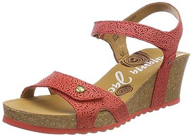 bdc8f45a3e1bbd PANAMA JACK Damen Julia Roses Peeptoe Sandalen  Amazon.de  Schuhe ...