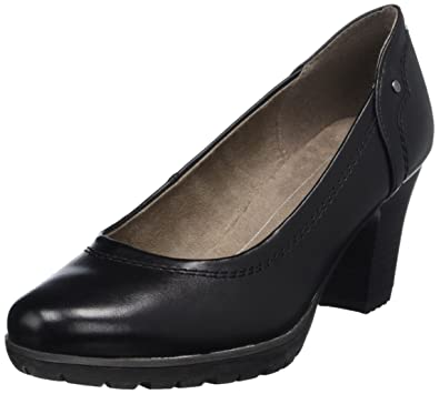 Softline Damen 22474 Pumps, Schwarz (Black 001), 38 EU