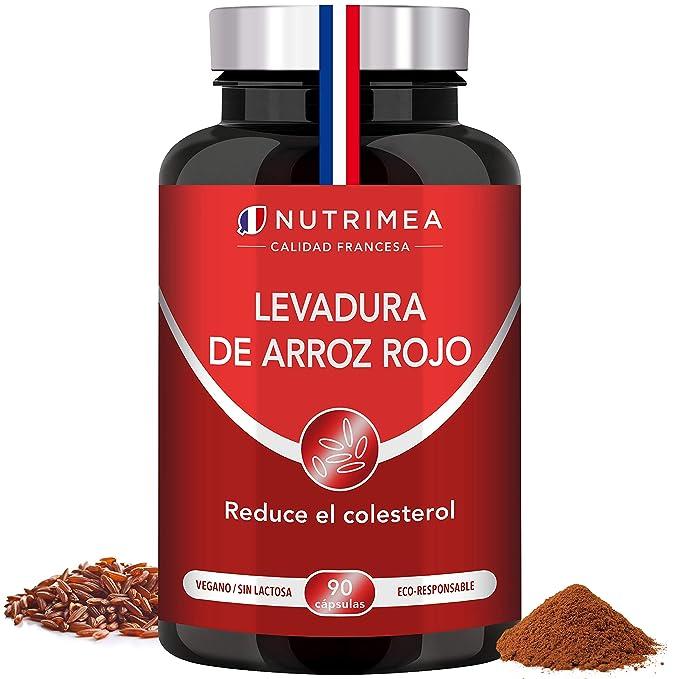 Levadura Roja de Arroz Coenzima Q10 Baja Tu Colesterol Monacolina K CoQ10 Dosis Concentrada Arroz Rojo Puro Monascus Purpureus Tratamiento 3 Meses 600 ...