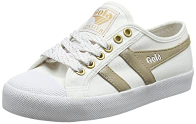 Gola Coaster Mirror White/Gold, Baskets Femme, Blanc (White/Gold Wy), 38 EU