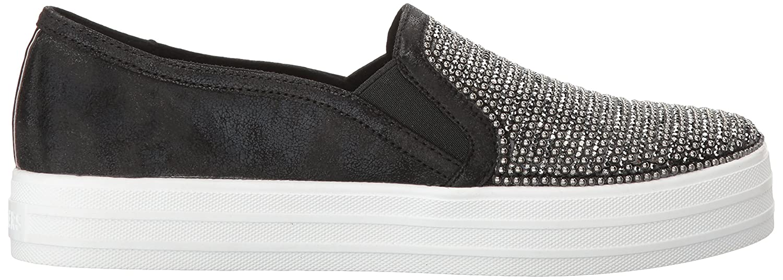 Skechers Damen Double Up-Shiny Dancer-801 Slip On Sneaker Schwarz (Black)