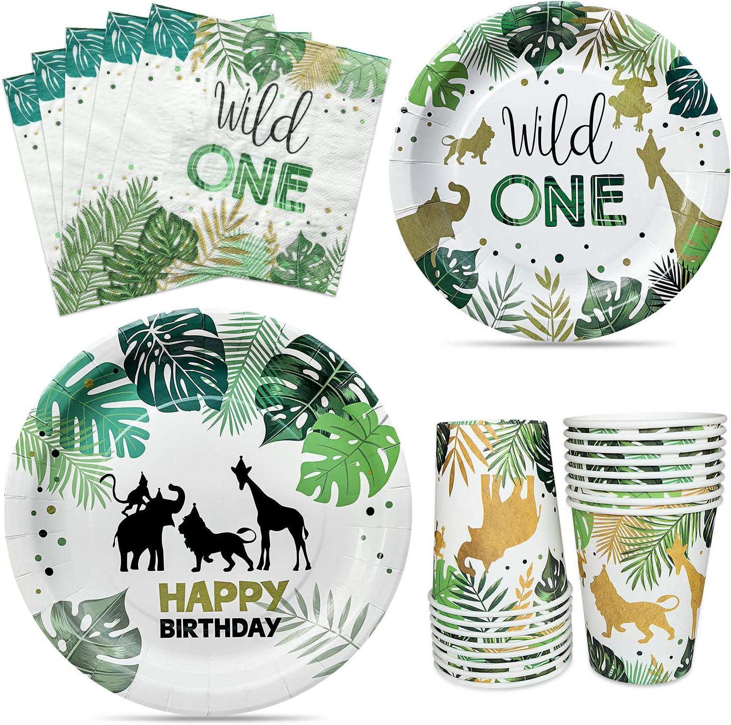 Wild One Birthday Boy  Wild One Birthday Girl  Wild One Birthday Decorations  Wild One Party Straws  Wild One Party Ideas  Safari Party
