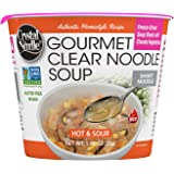 Crystal Noodle Non-GMO Short Noodle Soup, Hot & Sour, 1.06 Ounce (Pack of 6)