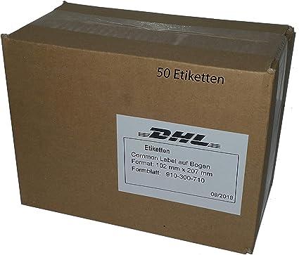 DHL Etiketten Versandaufkleber Label selbstklebend 102 mm x 207 mm f/ür Laserdrucker//Tintenstrahldrucker 5.000 Blatt 910-300-710