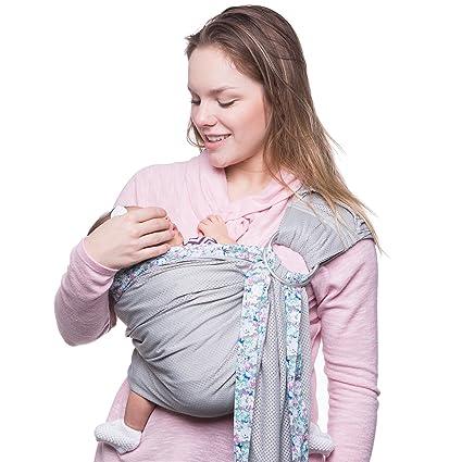 Porta Bebé Envolvente Sandesica: Cabestrillo Porta Bebé 100% algodón para Infantes de 0-18 meses| Suave, Respirable, Cómodo para amamantar/ ...