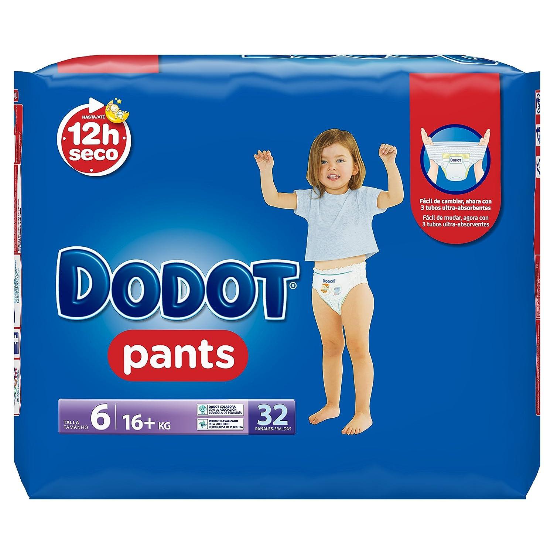Dodot Pants - Pack de 3 x 32 pañales, talla 6: Amazon.es: Salud y cuidado personal