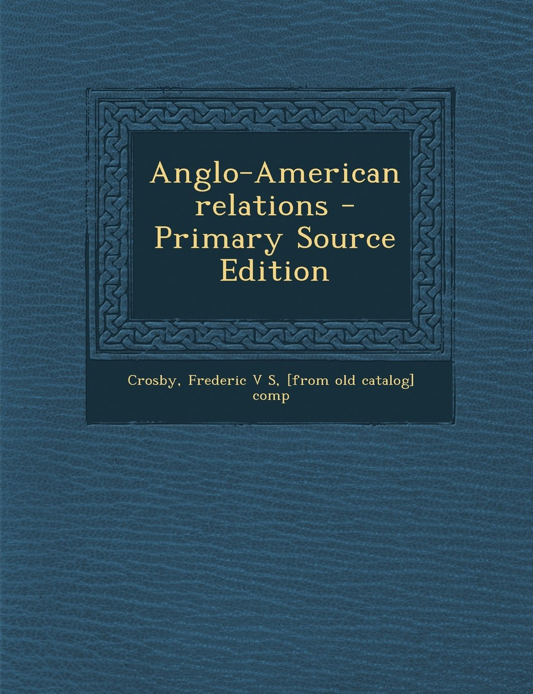 Anglo-American relations pdf