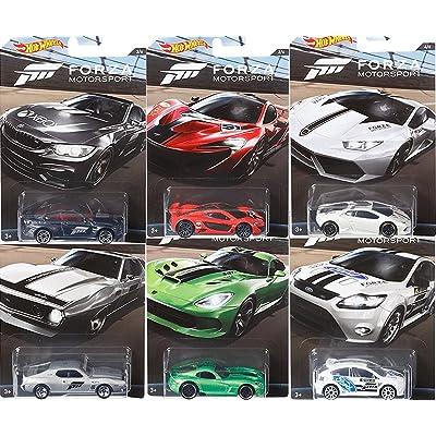 Hot Wheels 2020 Forza Motorsports 6 Car Set Bundle: Toys & Games