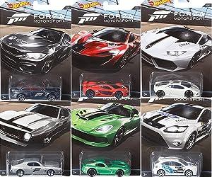 Hot Wheels 2017 Forza Motorsports 6 Car Set Bundle