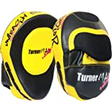 TurnerMAX Boxing Focus Pads, Hook & Jab pads, Kick Pads, Curved Pads, Martial Arts, Muay thai MMA UFC Yellow