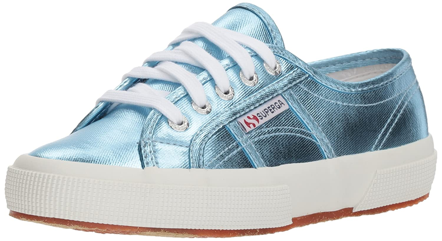 Superga Women's 2750 Cotu Metaliic Sneaker B0777NYTW4 39 M EU (8 US)|Light Blue