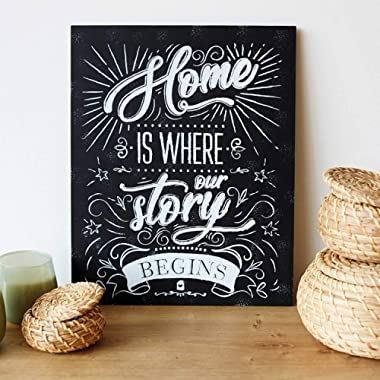 Kenley Home Decor Wall Sign - Perfect Housewarming Gift Idea for New Home or Welcome Present for New Family House - 11  x 14  Art Plaque with Inspirational Saying