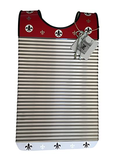 Zydeco Washboard Red White Cajun Fleur De Lis Key Of Z Rubboards Free Scratchers Frottoir Scrubboard Zydeco Washboard Percussion Instrument Hand