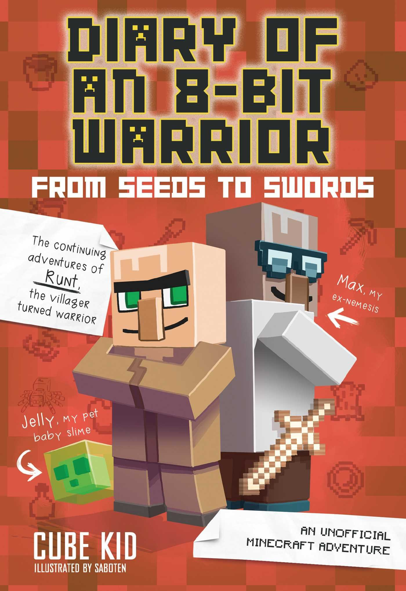 Diary 8 Bit Warrior Unofficial Minecraft product image