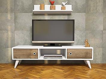ASPEN Mueble salón comedor para televisión con 2 puerta y estante ...