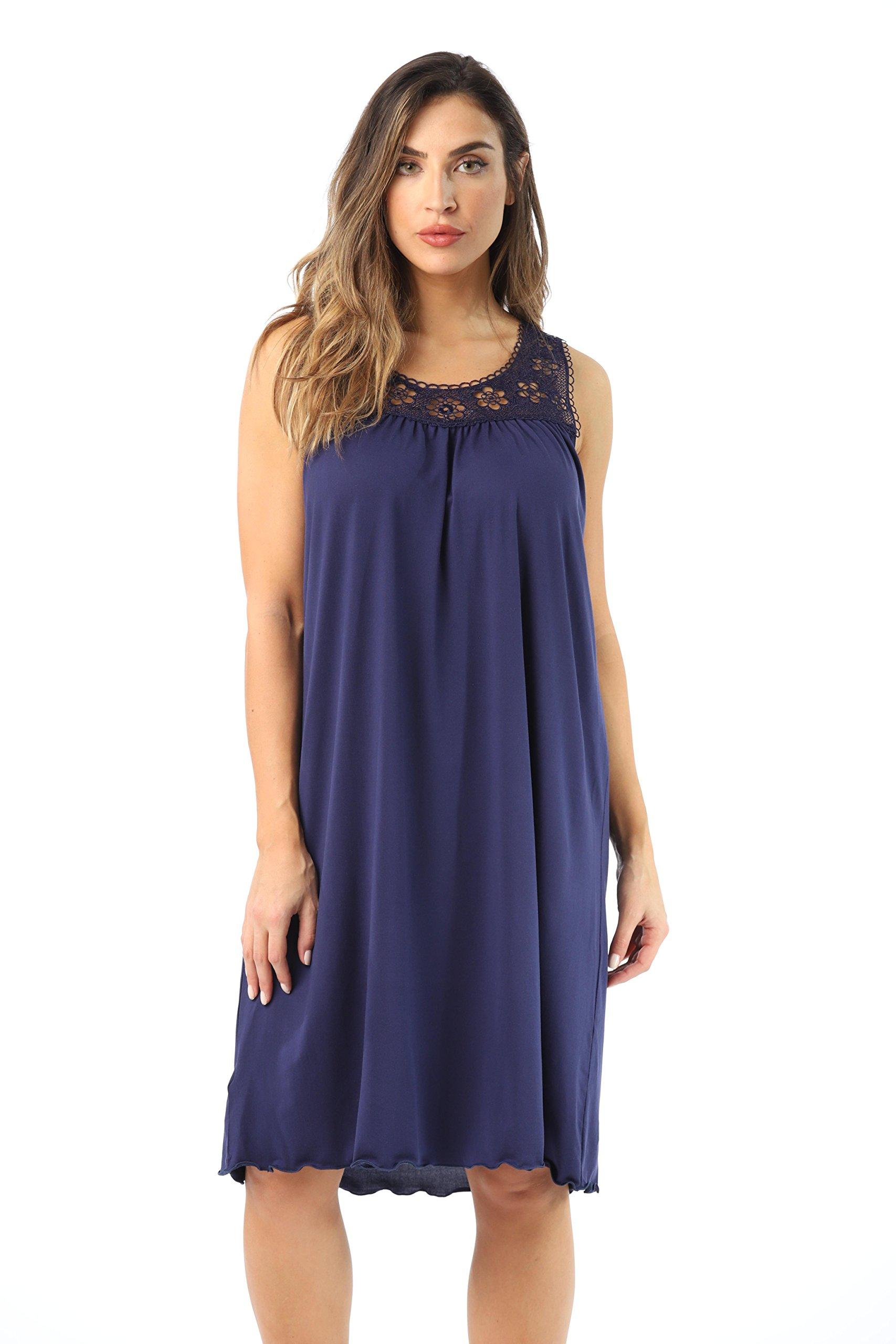 Just Love 1541B-Navy-2X Nightgown/Women Sleepwear/Sleep Dress