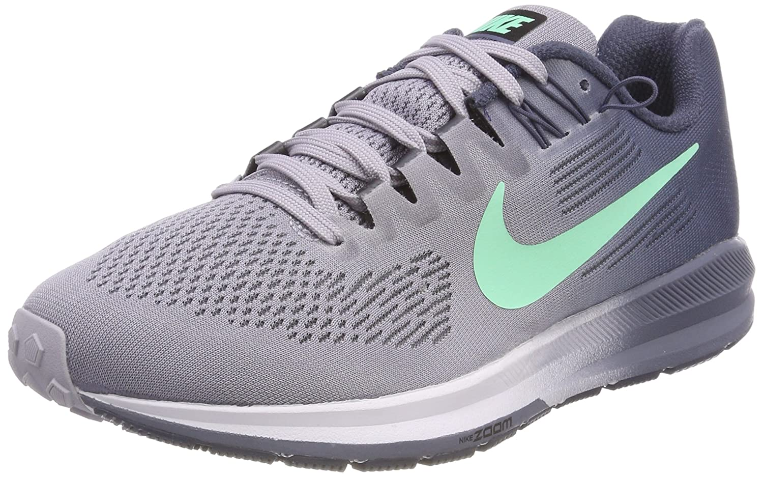 NIKE Women's Air Zoom Structure 21 Running Shoe B0793JHPNX 5.5 B(M) US|Provence Purple/Green Glow