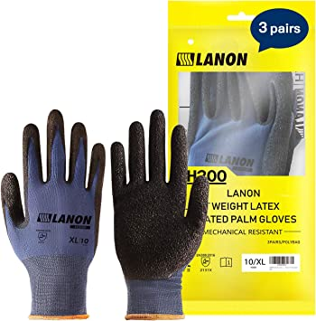 Garden Work Gloves Nylon Micro Fiber Breathable Safety Working Protection Gloves