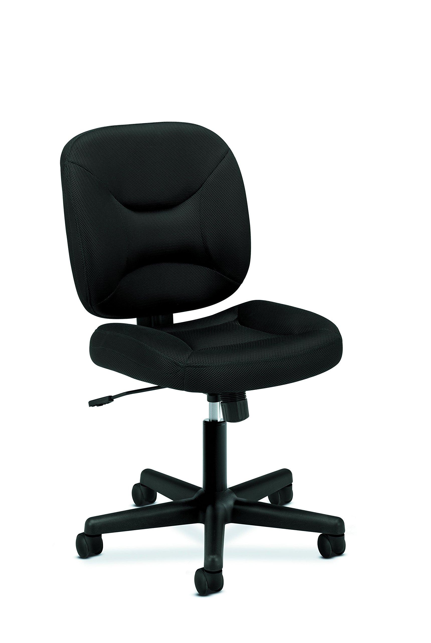 HON ValuTask Low Back Task Chair - Mesh Computer Chair for Office Desk, Black (HVL210) by HON