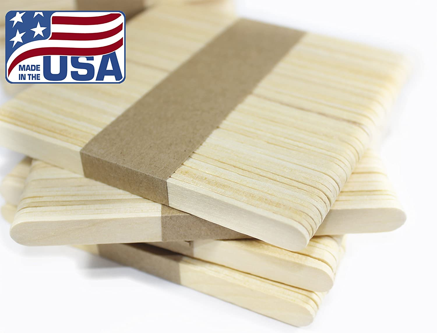 Wooden Ice Cream Stick • Popsicle Stick • Caramel Apple Stick • Crafts Stick • Wooden Treat Sticks • Building Model (50) SBB Midwest Co