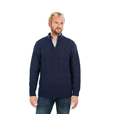 Alomoc Mens Thick Casual Slim Long Sleeve Knitted Cardigan Sweater with Pattern