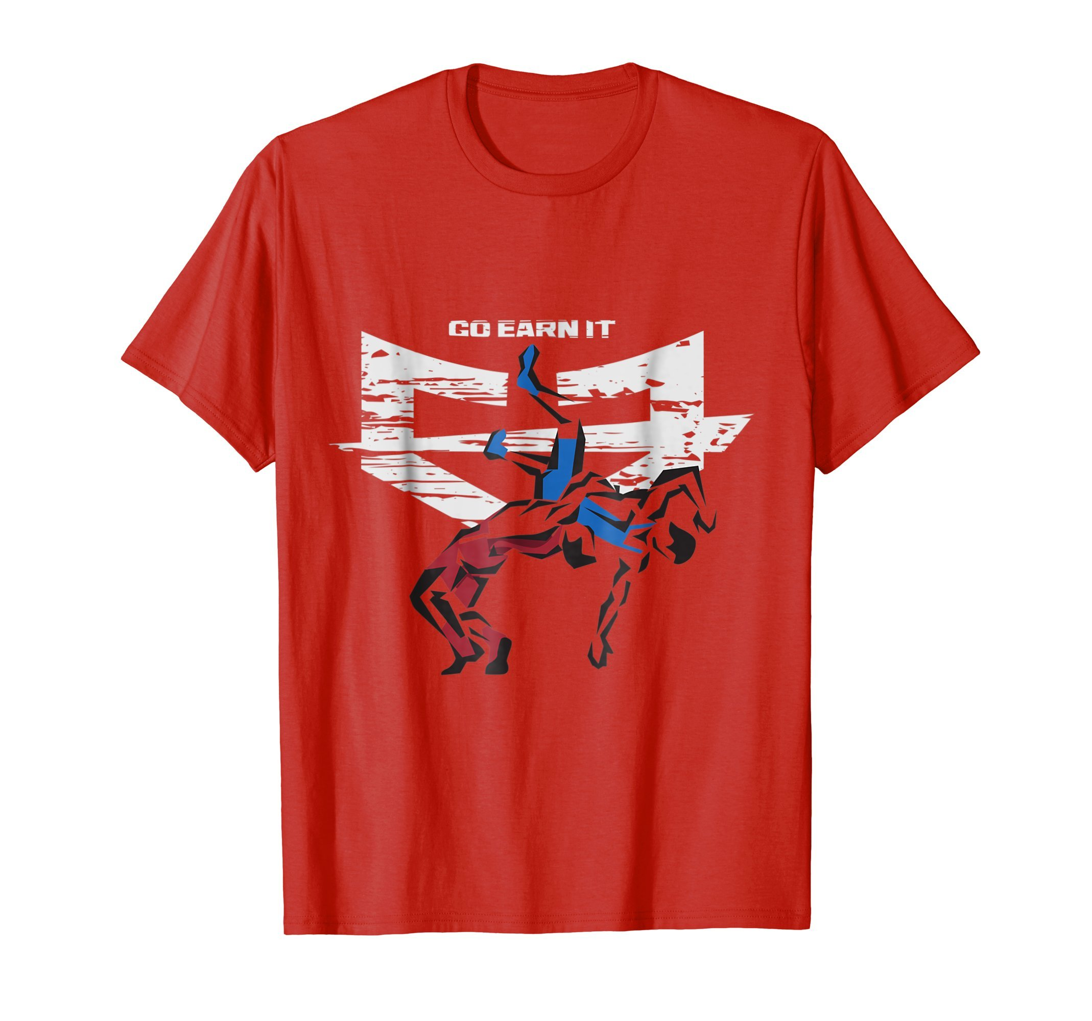 Mens 5 POINT THROW Wrestling t-shirt 3XL Red