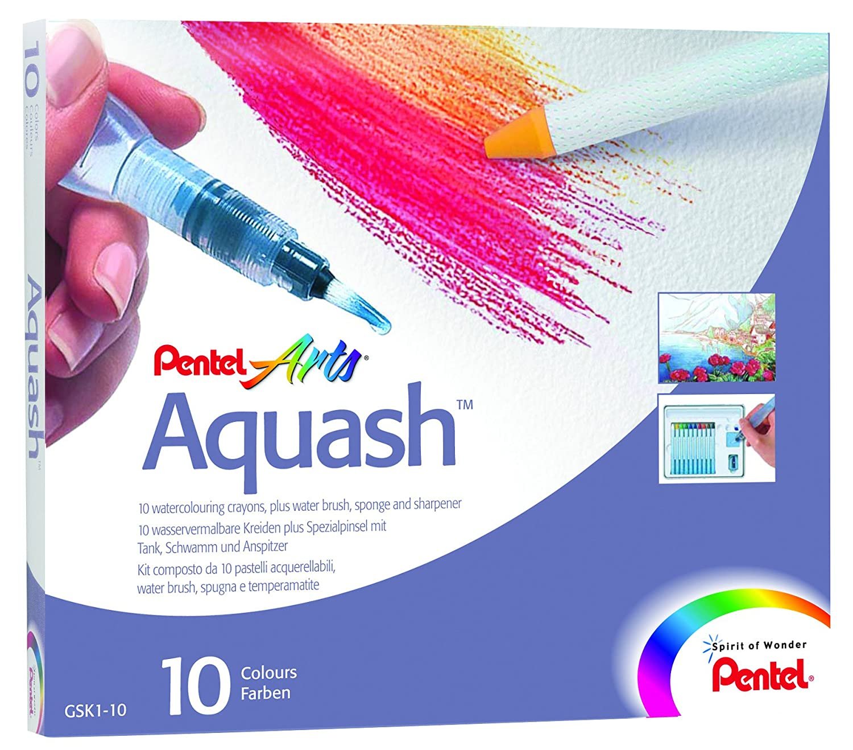 PENTEL AQUASH WATER COL CRAY PK10 ASST GSK1-10 PE00110