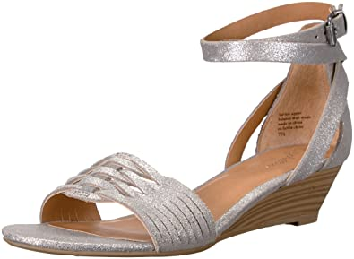 Seychelles Women's Sincere Wedge Sandal, Silver, ...