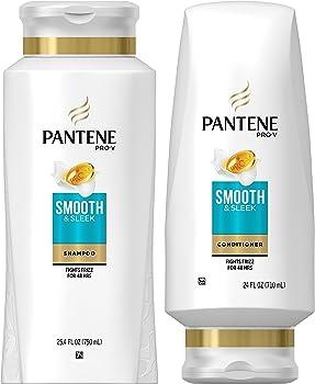 Pantene Pro-V Smooth & Sleek Shampoo and Conditioner, 49.4 fl oz