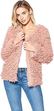 Hollywood Star Fashion Long Sleeve Faux Fur Coat Jacket