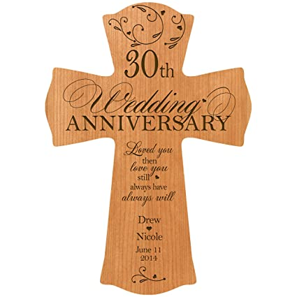 Amazon Personalized 30th Wedding Anniversary Wall Cross Gift