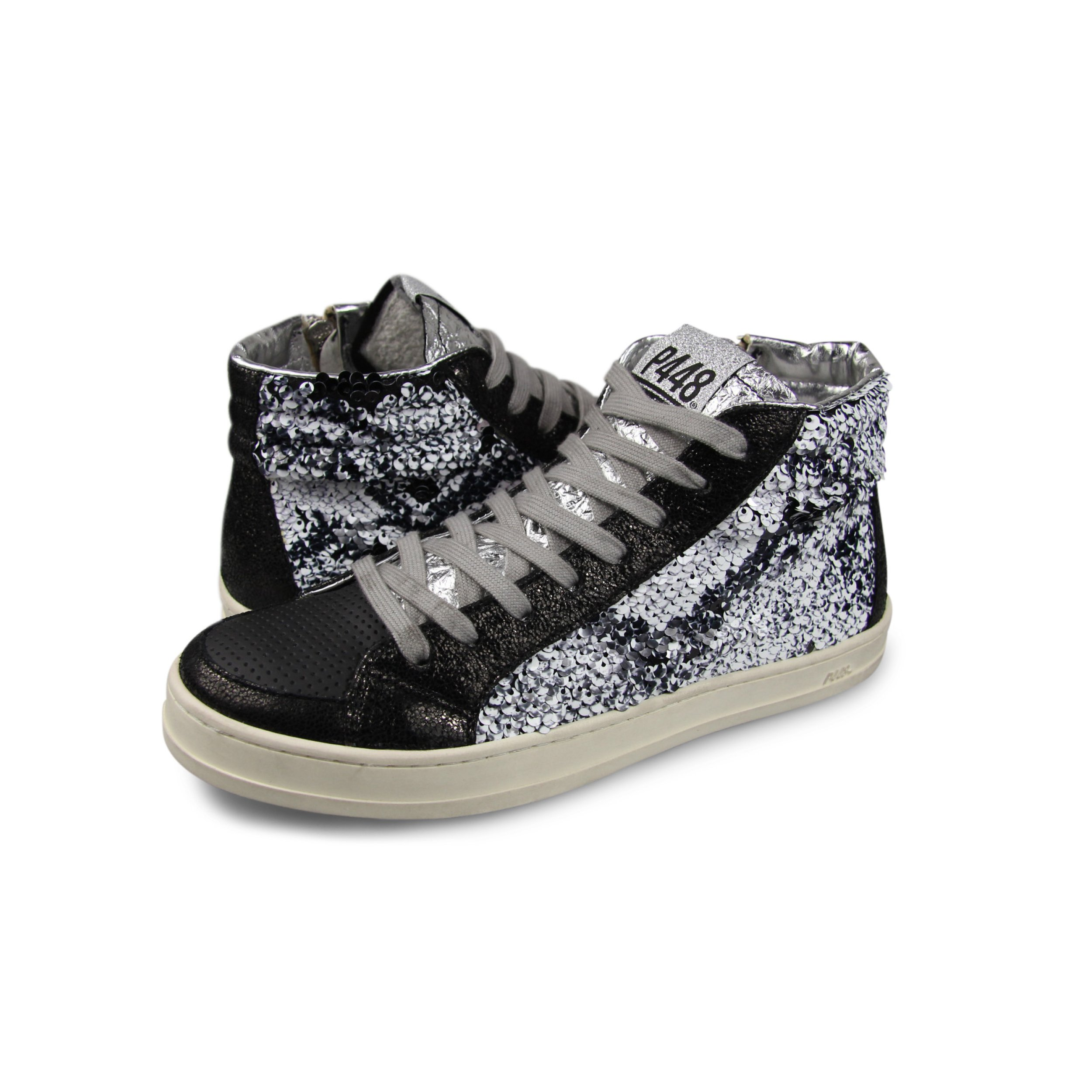 P448 Women's Skate Italian Leather Paillettes Sneaker EU 37 - US 6/6.5