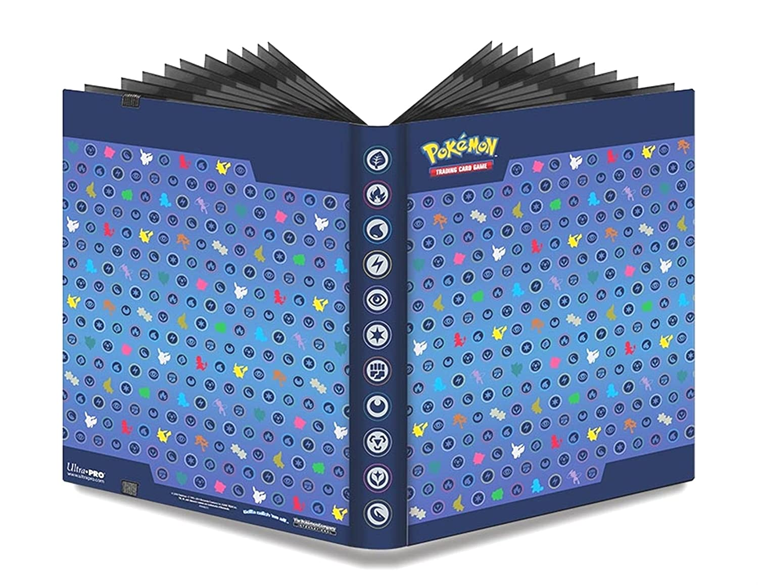 amazon 9 pocket pokemon full view pro binder silhouettes album