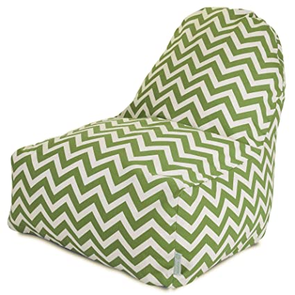 Amazon.com: Majestic Home Goods KICK-IT silla, Chevron, Sage ...