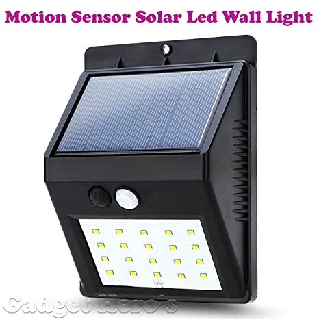 Gadget Herou0027s™ Motion Sensor Solar Powered LED Garden Light. Waterproof  Weatherproof Outdoor Lamp.