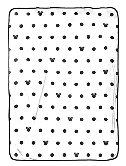 Disney Minnie Mouse Icon And Dots Blanket Black White