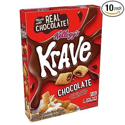 Kelloggs Krave – Cereal, chocolate, buena fuente de fibra ...