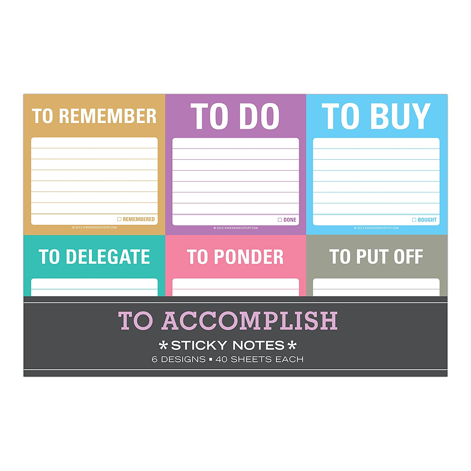To Accomplish Sticky Notes Packet