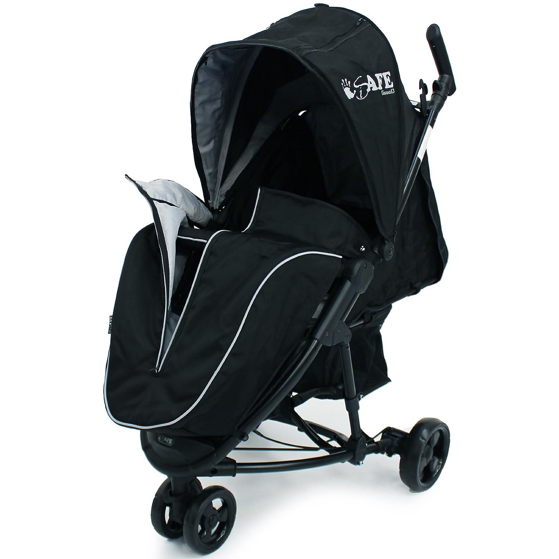 iSafe Visual 3 Black Grey Three Wheeler Stroller from Birth with Tablet Smart Phone Media Pocket 8K-QYMG-VNOK