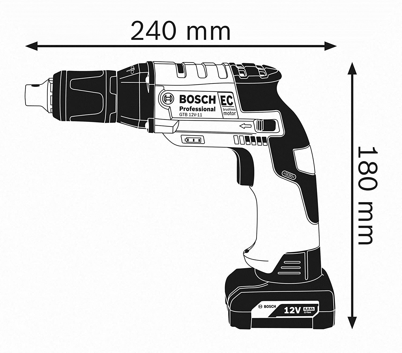 Bosch 10,8 V-ec te Professional BATERÍA TALADRO-caja 06019e4002