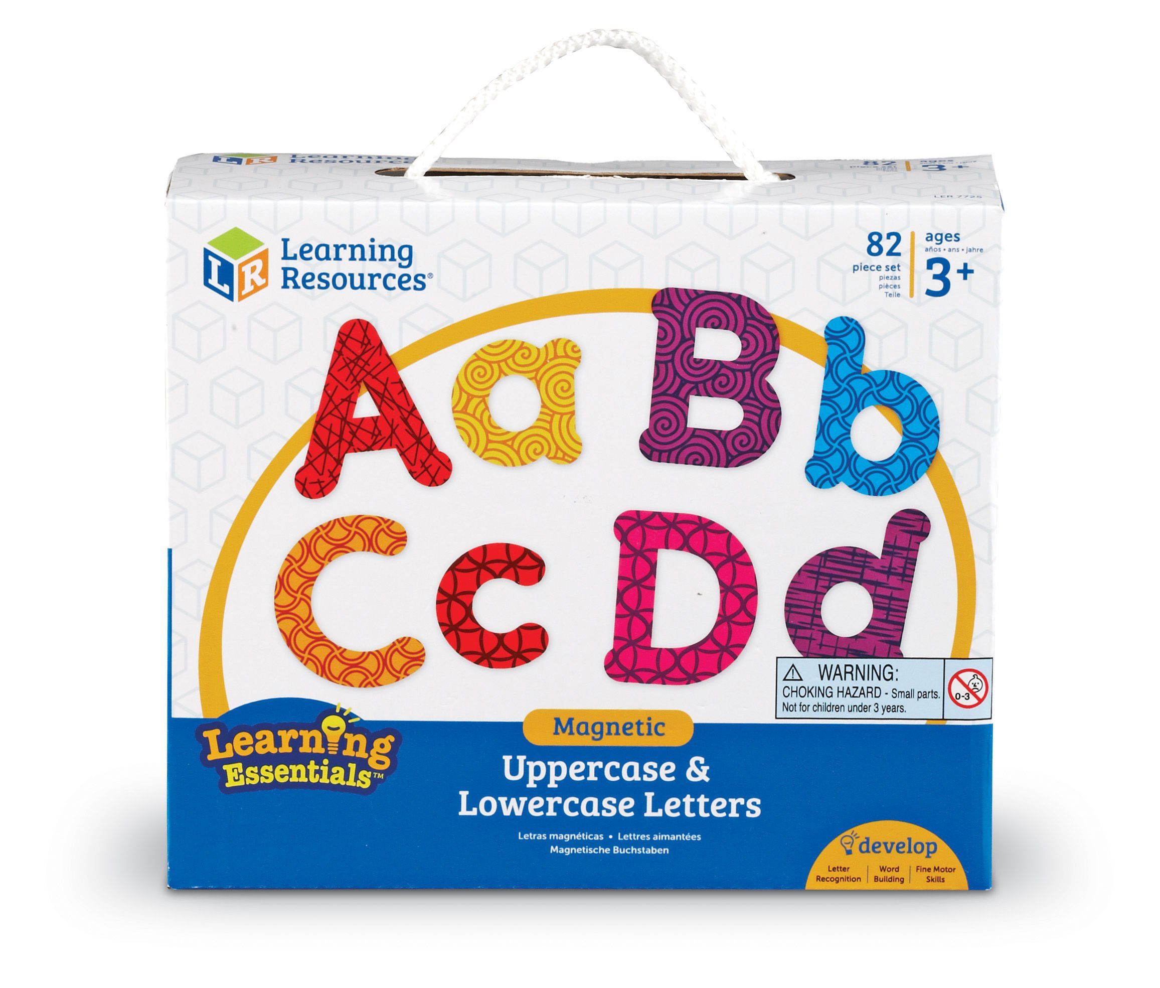 Learning Resources Magnetic Uppercase and Lowercase Letters (LER7725)