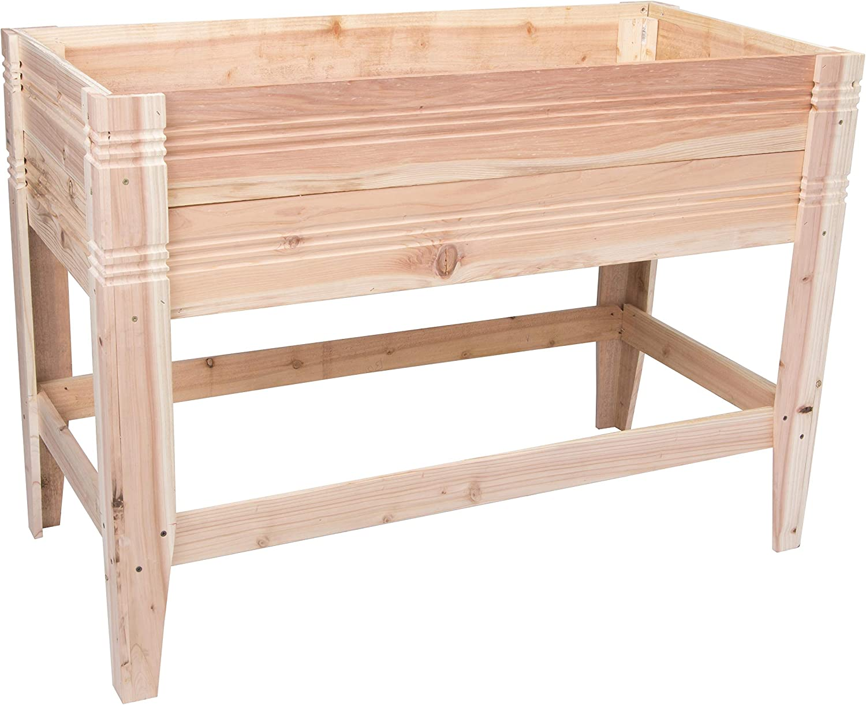 Bloom 88000BL Raised Garden Bed Planter Box, Cedar