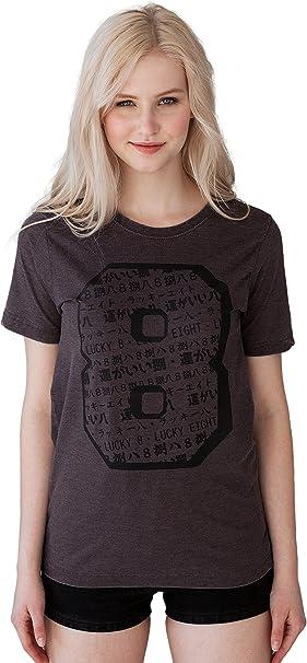 Strand Clothing Camiseta Japonesa de la Suerte 8 – Número de la ...
