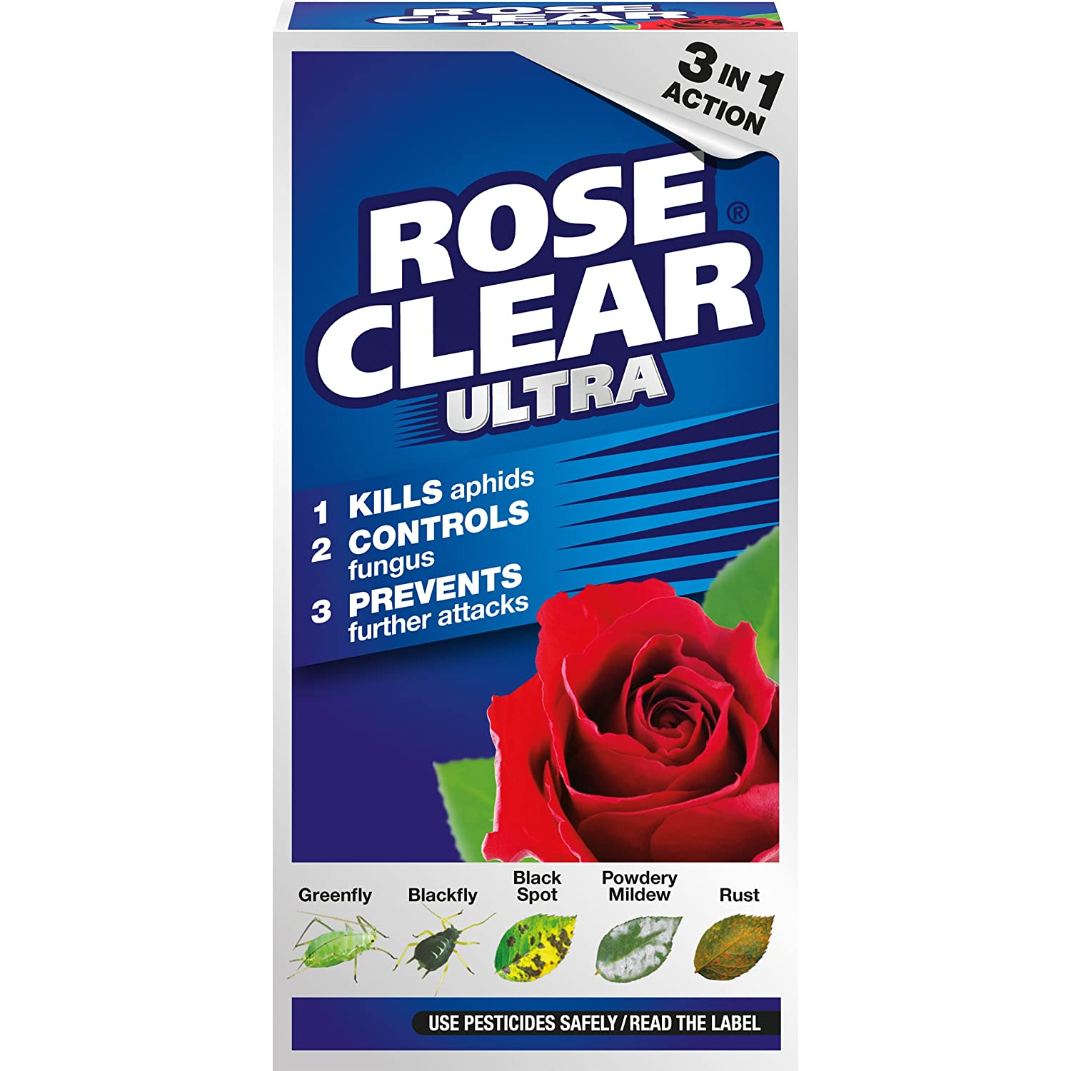 RoseClear Ultra Systemic Insecticide and Fungicide Liquid Concentrate Bottle, 200 ml Evergreen Garden Care Ltd 017552 B004DI77TC Roseclaer