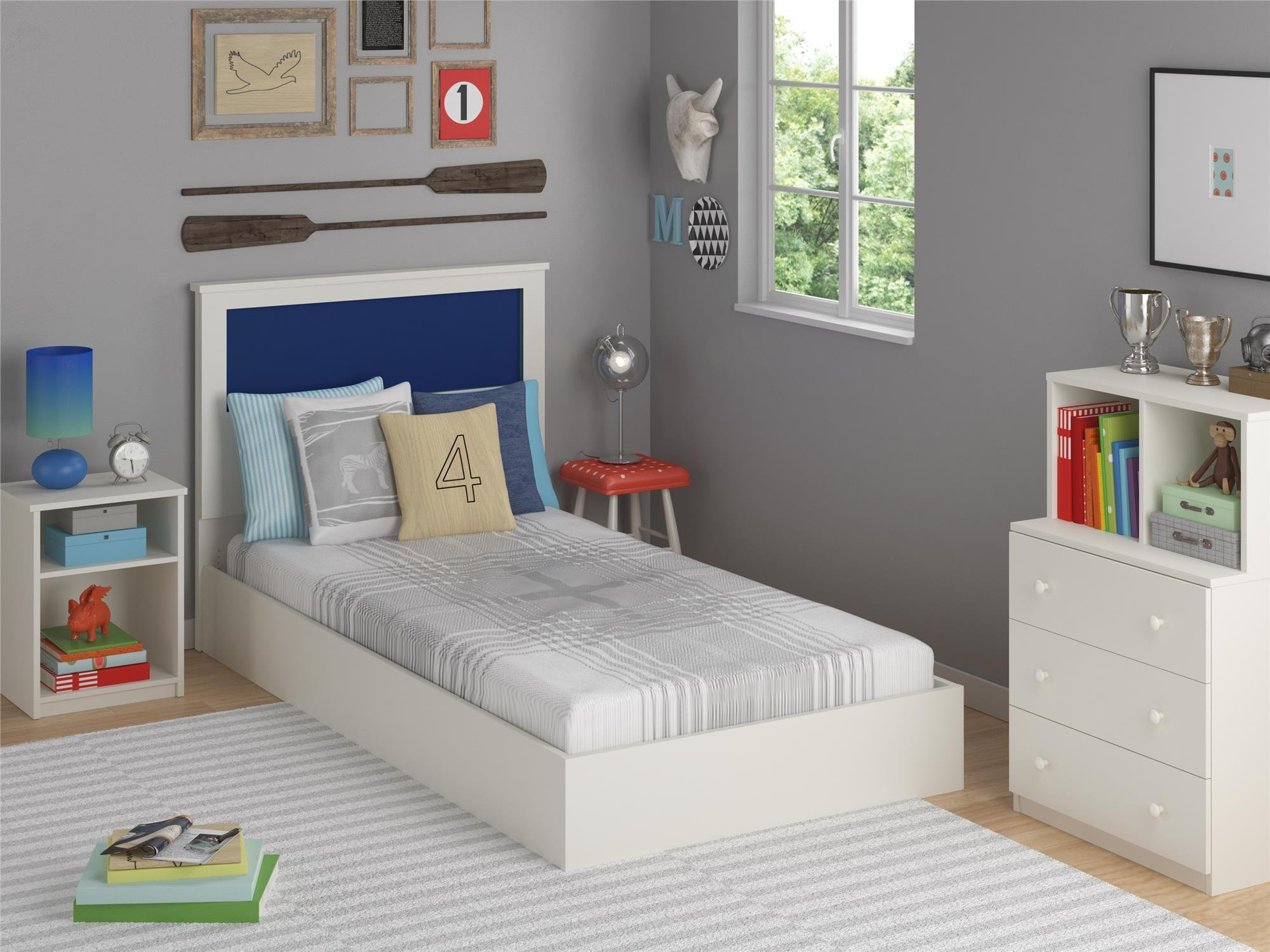 Ameriwood Home Skyler 3 Drawer Dresser with Cubbies, White by Ameriwood Home (Image #5)