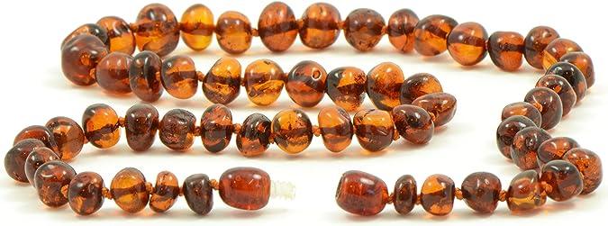 fabriqu/é /à la main 45/cm Collier avec perles d/'ambre de la Baltique BAL pour adulte