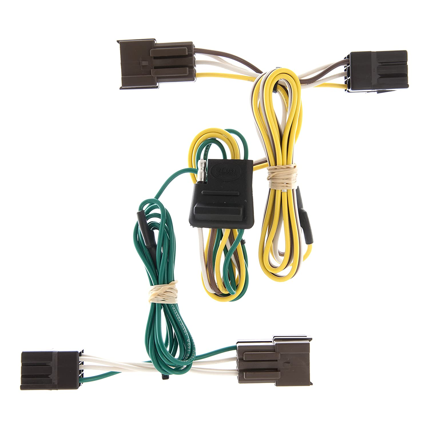 curt 55375 vehicle side custom 4 pin trailer wiring harness for select ford taurus, mercury sable Mercury Tachometer Wiring Harness
